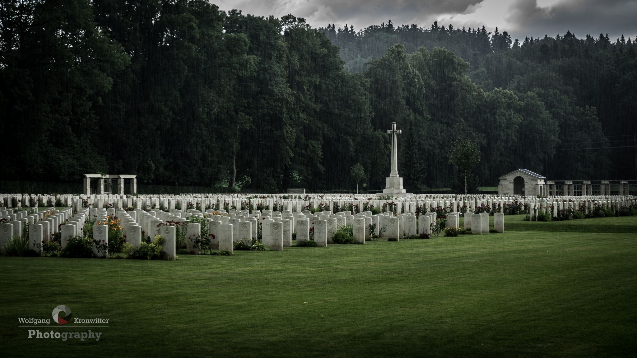 silence at the Durnbach war cemetery, Germany