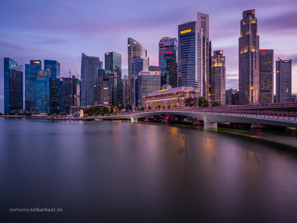 Singapore Skyline | Jubilee Bridge, Singapore