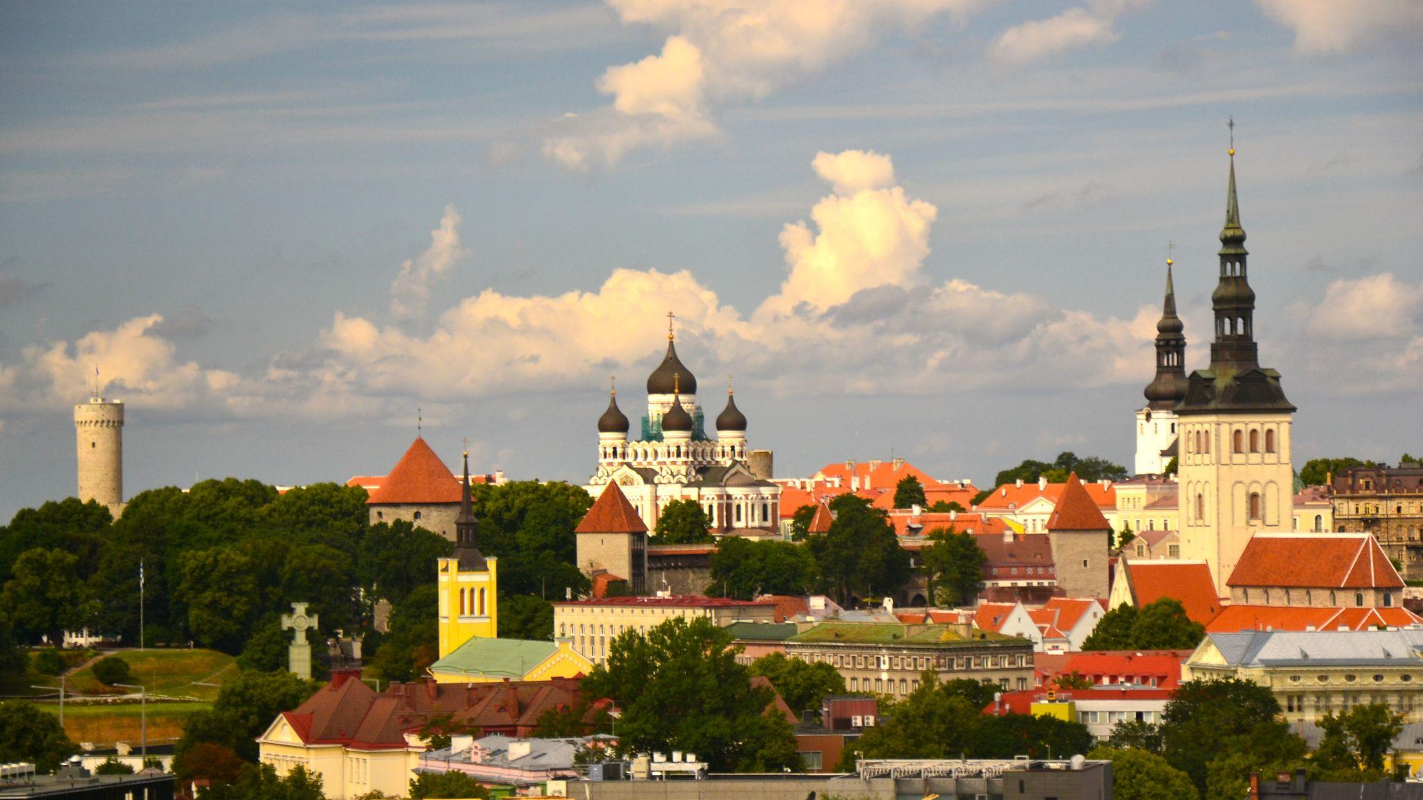 Tallinn Old Town Skyline, Estonia