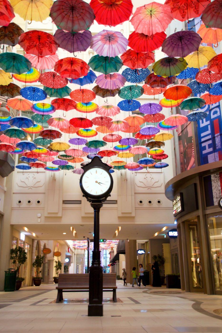Umbrellas in Village Dubai Mall, United Arab Emirates