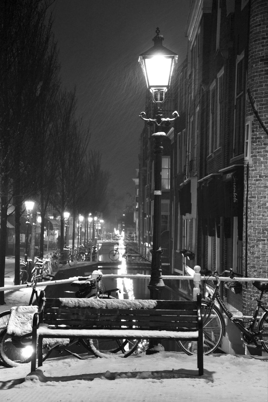 Winter in Delft, Netherlands