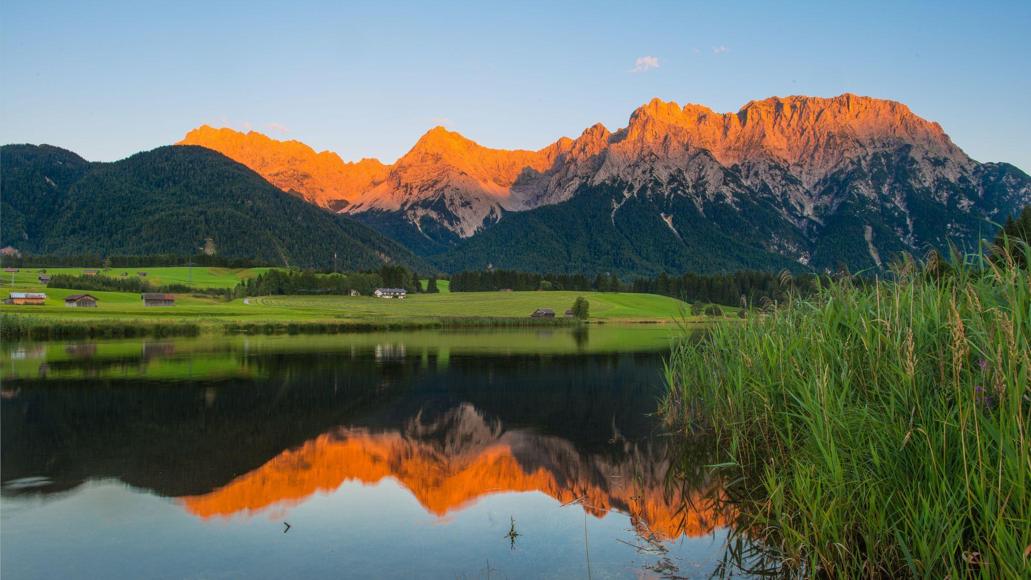 Alpenglühen, Germany