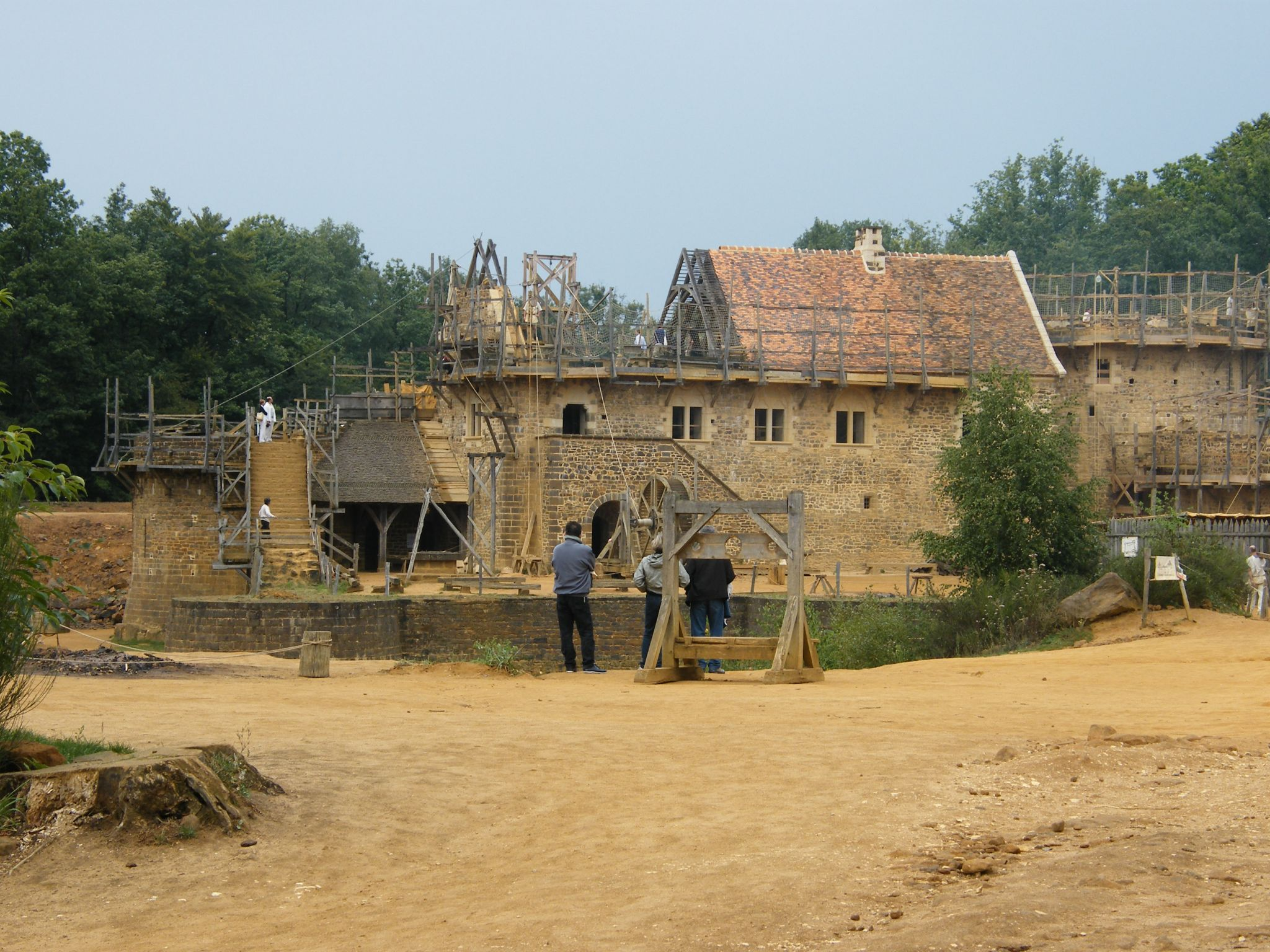 Medieval chateau of Guedelon, France