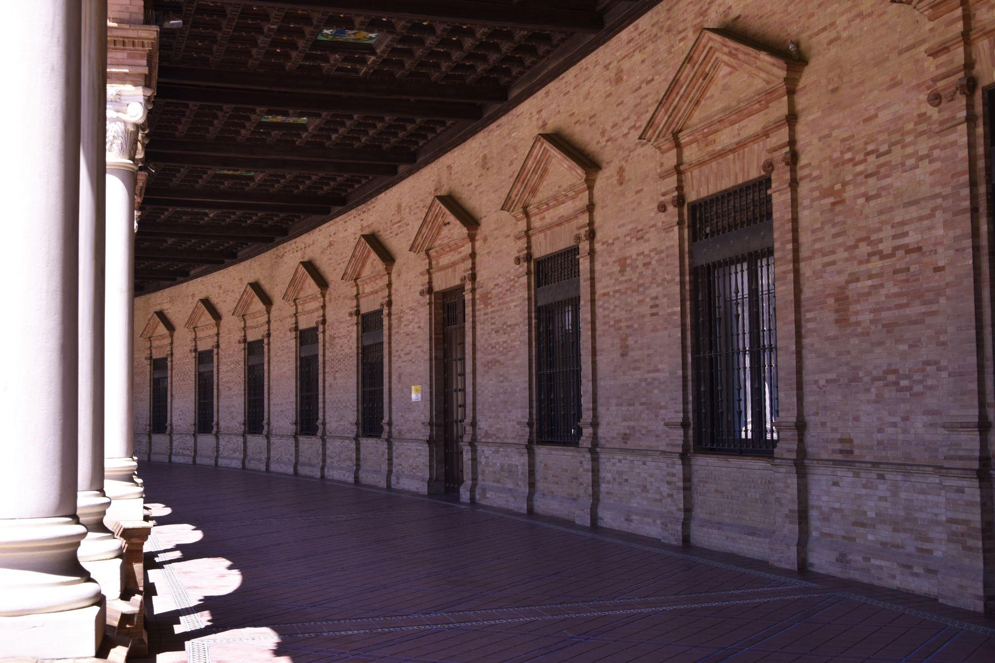 Corridors of the Plaza de España, Spain