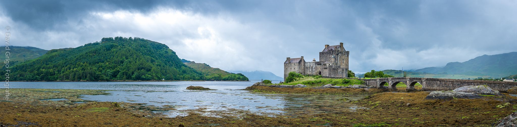 Eilean Donan Castle in profile, United Kingdom