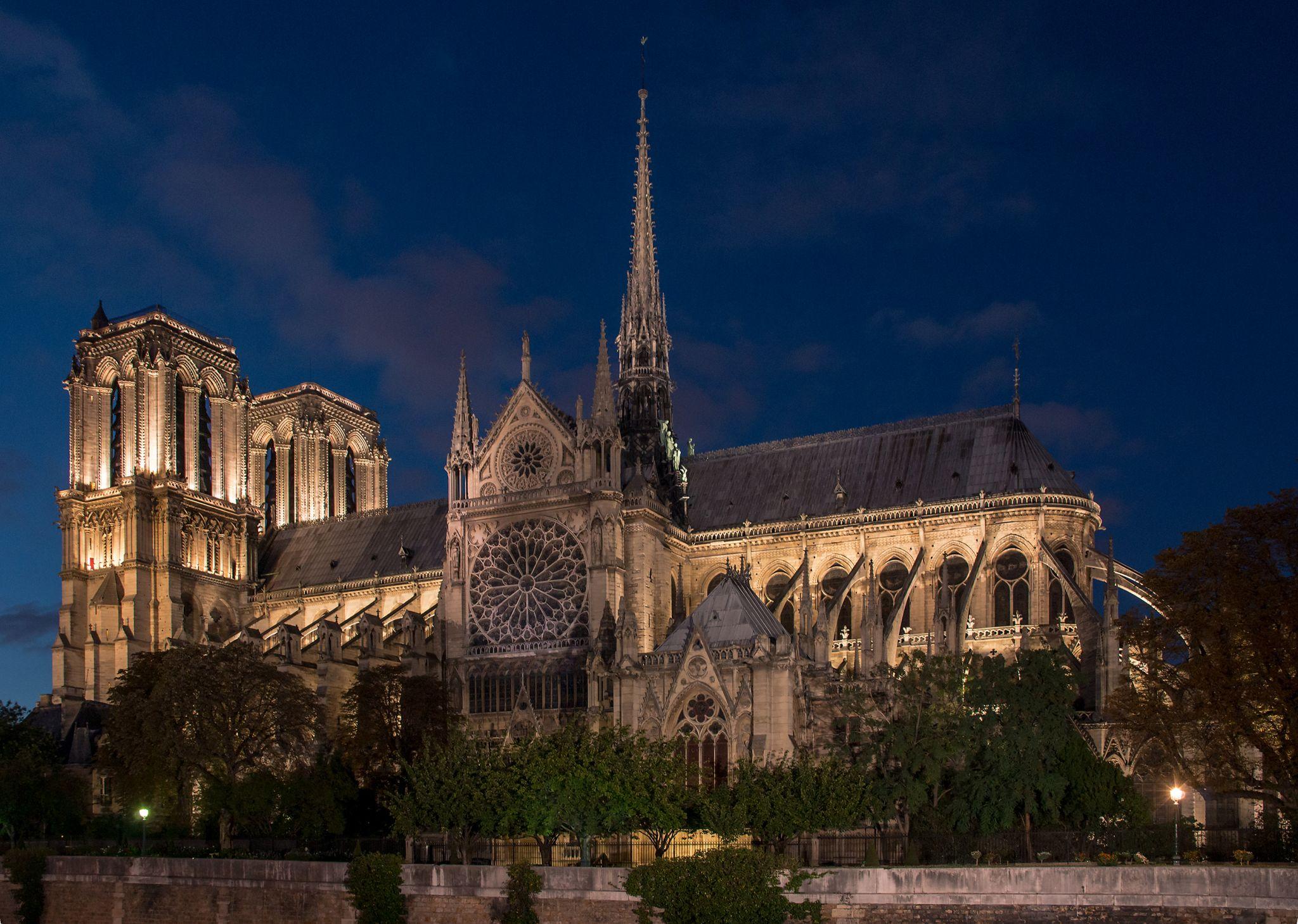 Notre Dame from Quai de Montebello, France