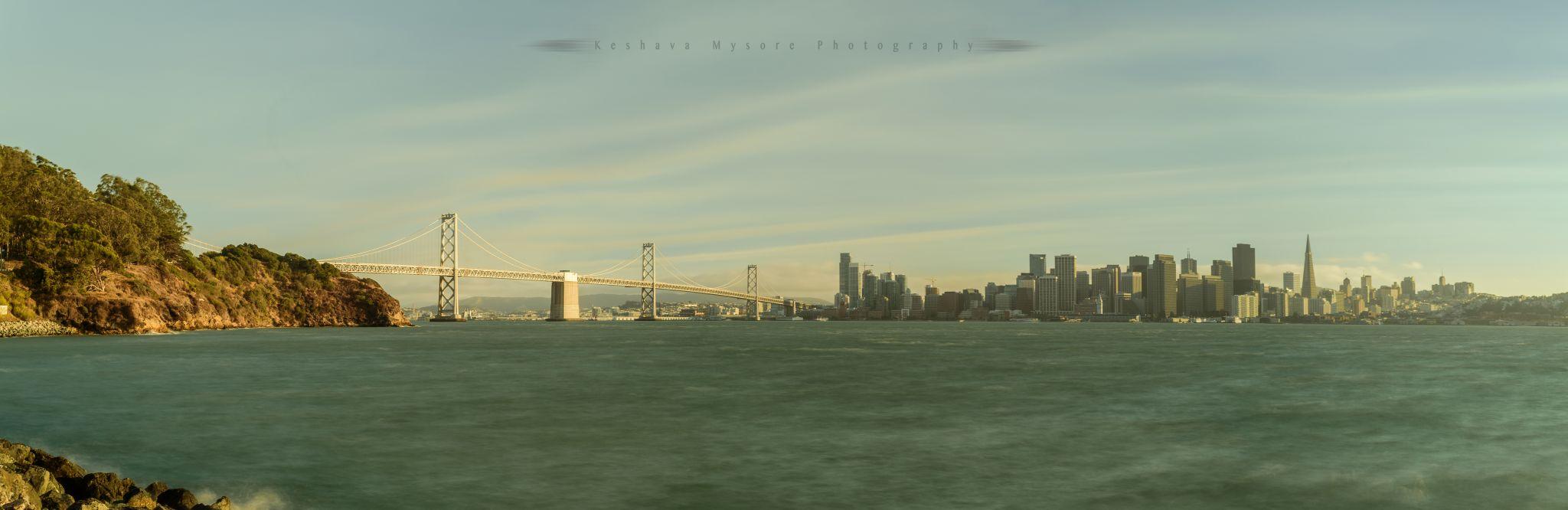 SFO skyline from Treasure Island, USA