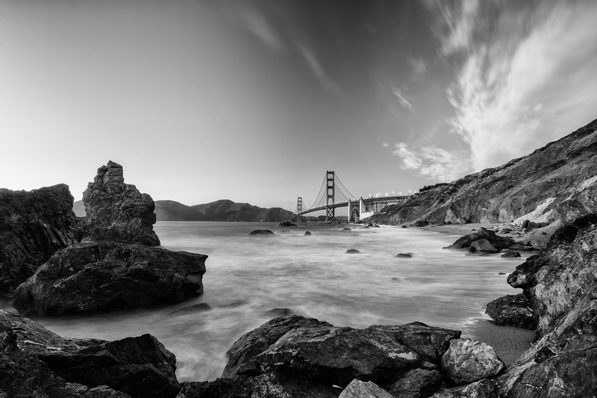 The Golden Gate Bridge From Baker Beach, USA