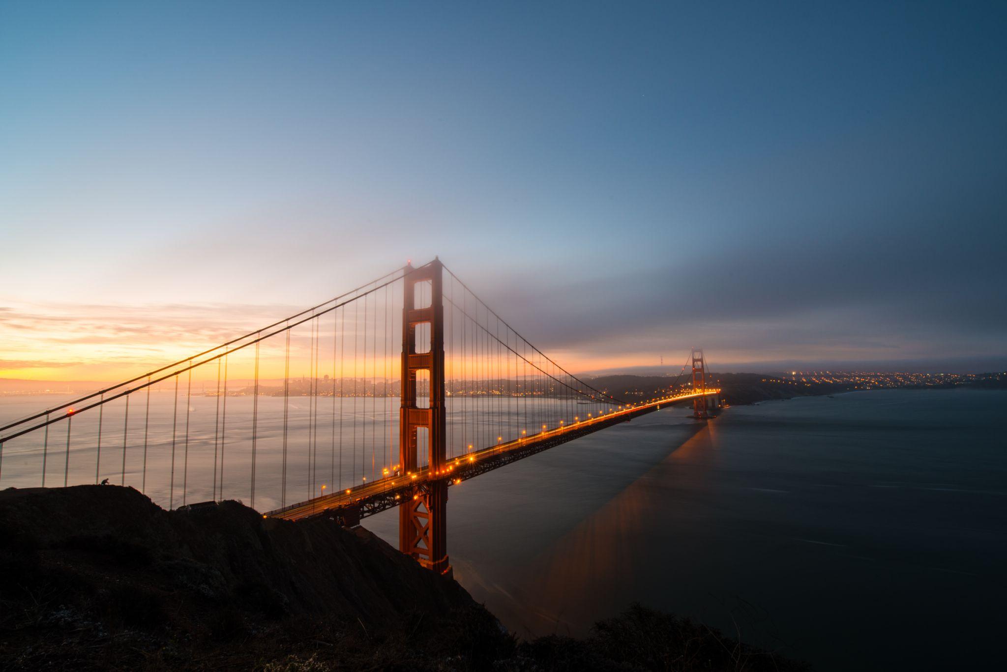The Golden Gate Bridge From Battery Spencer, USA