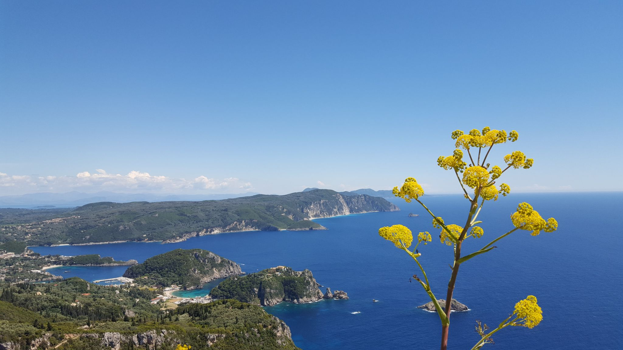 View From Angelokastro Castle At Corfu, Greece