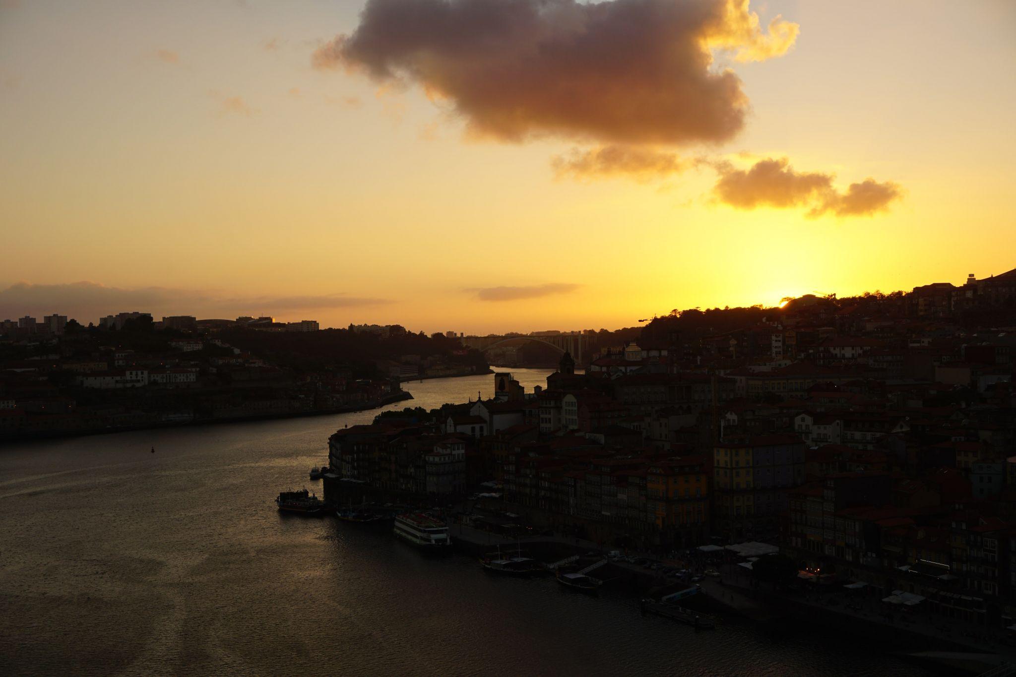 View onto Porto from the Ponte Luís I, Portugal