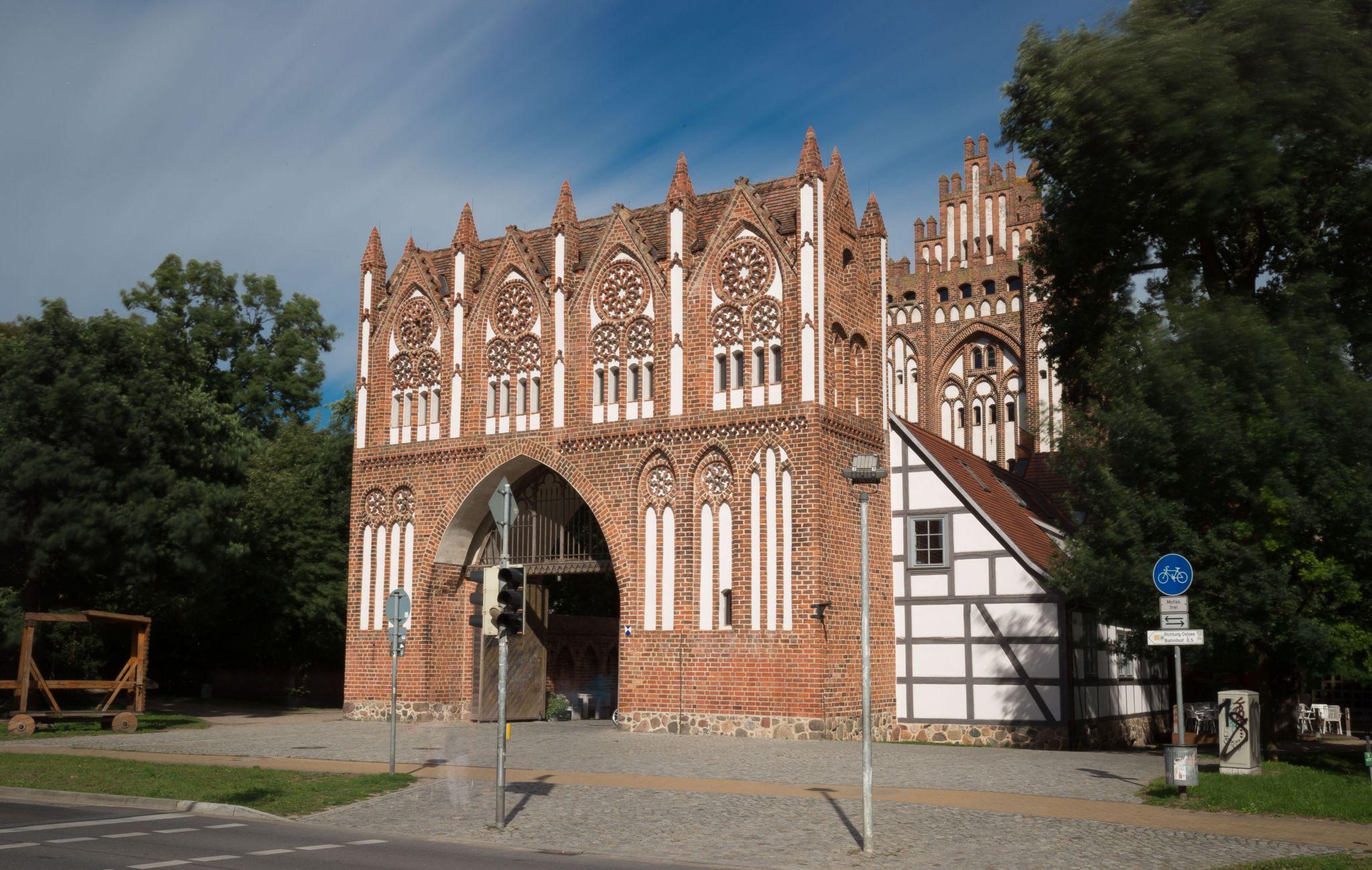 West side of the Treptower Gate, Neubrandenburg, Germany