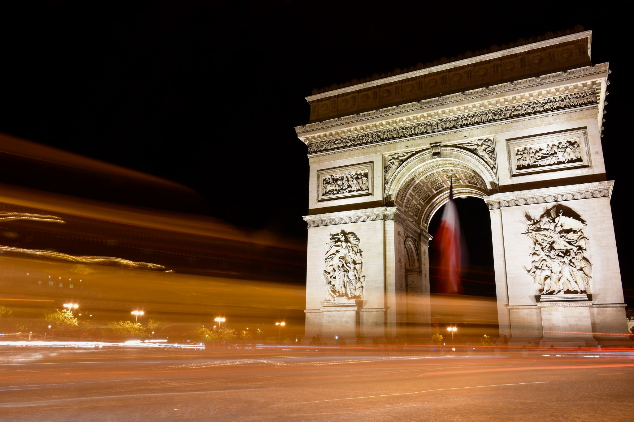 Arc de Triumph at night, France