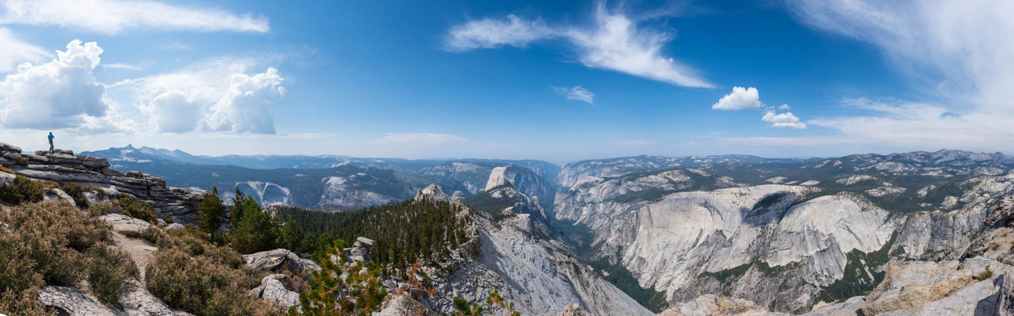 Half Dome from Cloud's Rest Peak, Yosemite, USA