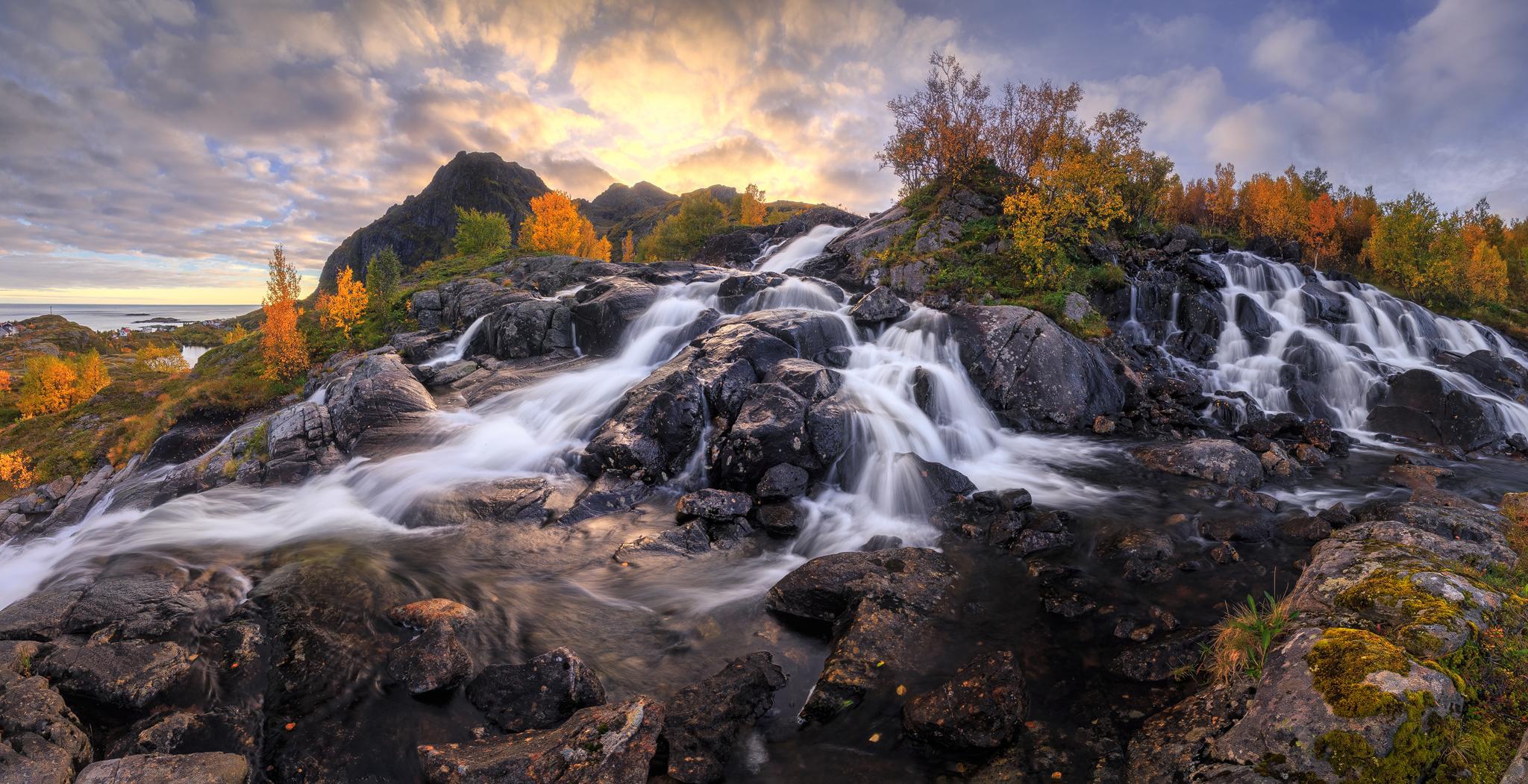 Lofoten Waterfall, Norway