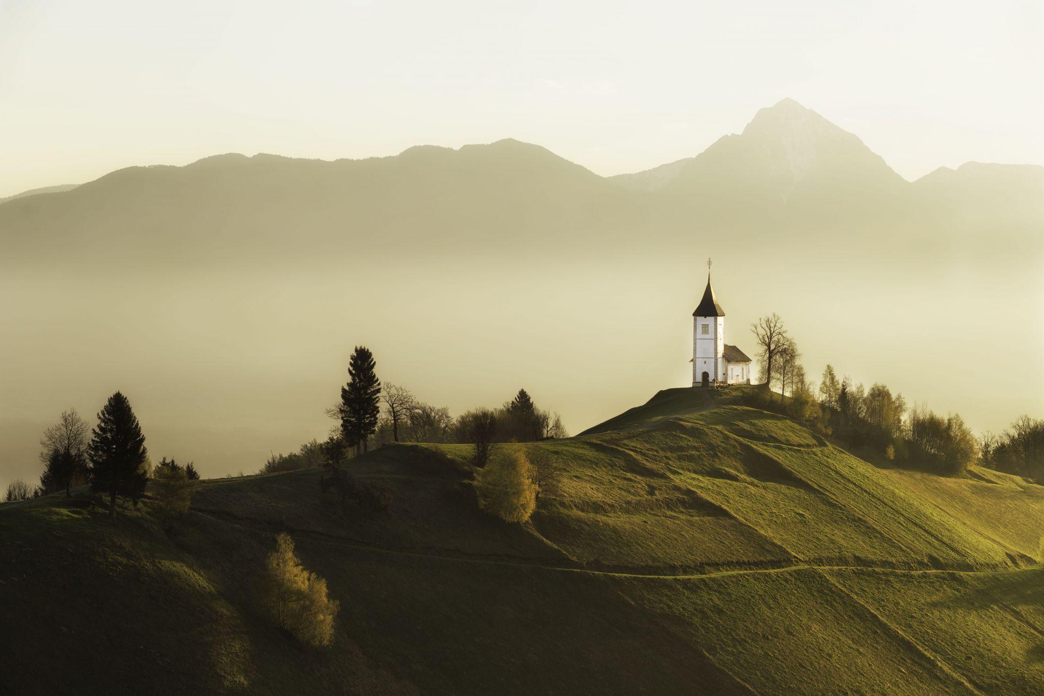 The Curch of St. Primoz, Jamnik, Slovenia