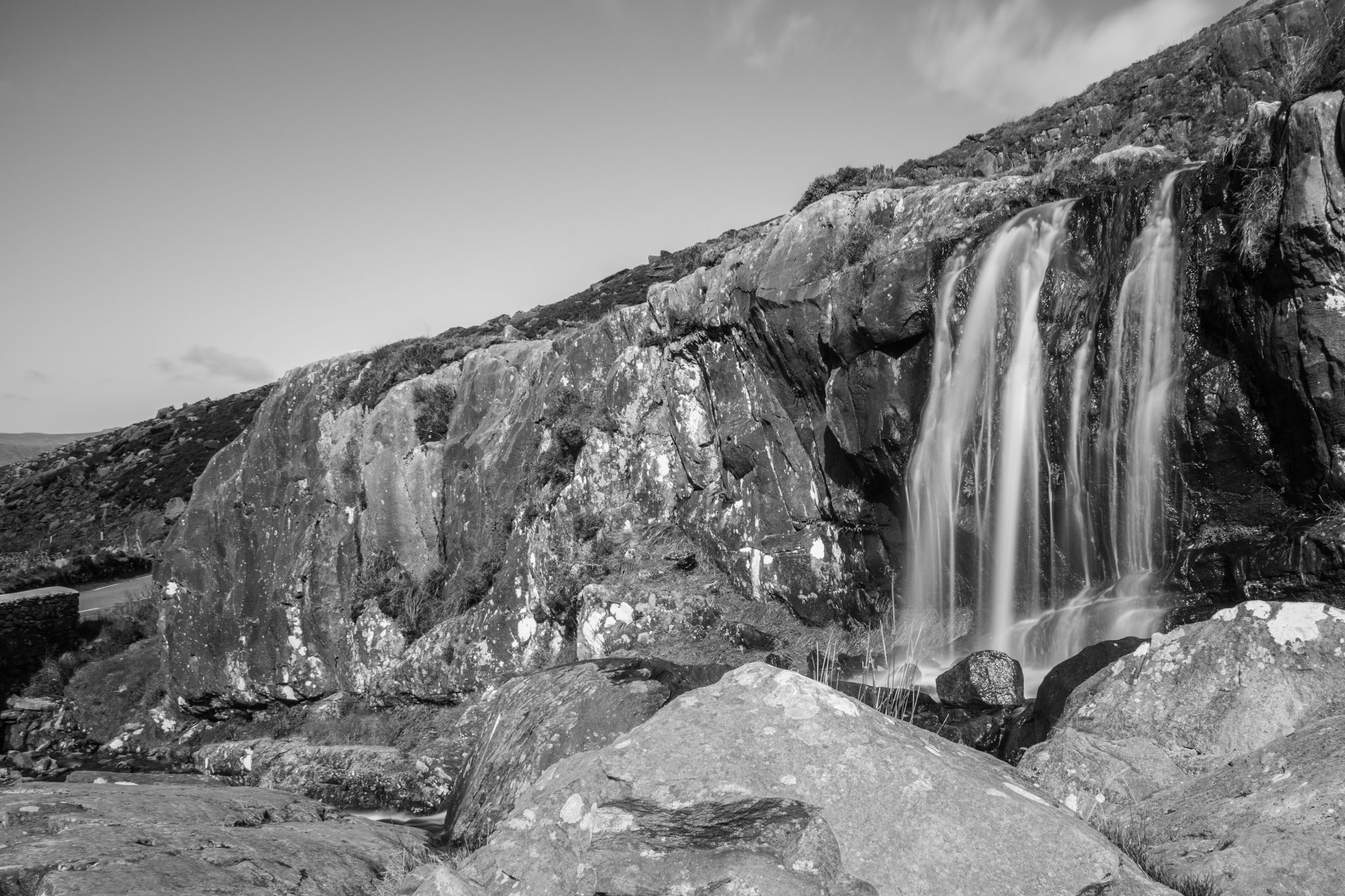 Waterfall near Conor Pass, Ireland
