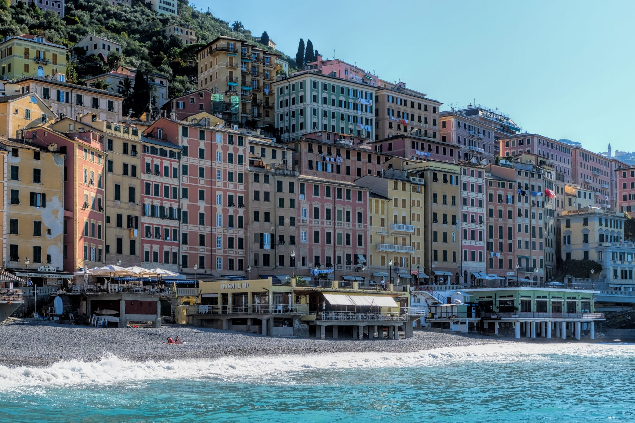 Beach of Camogli, Italy