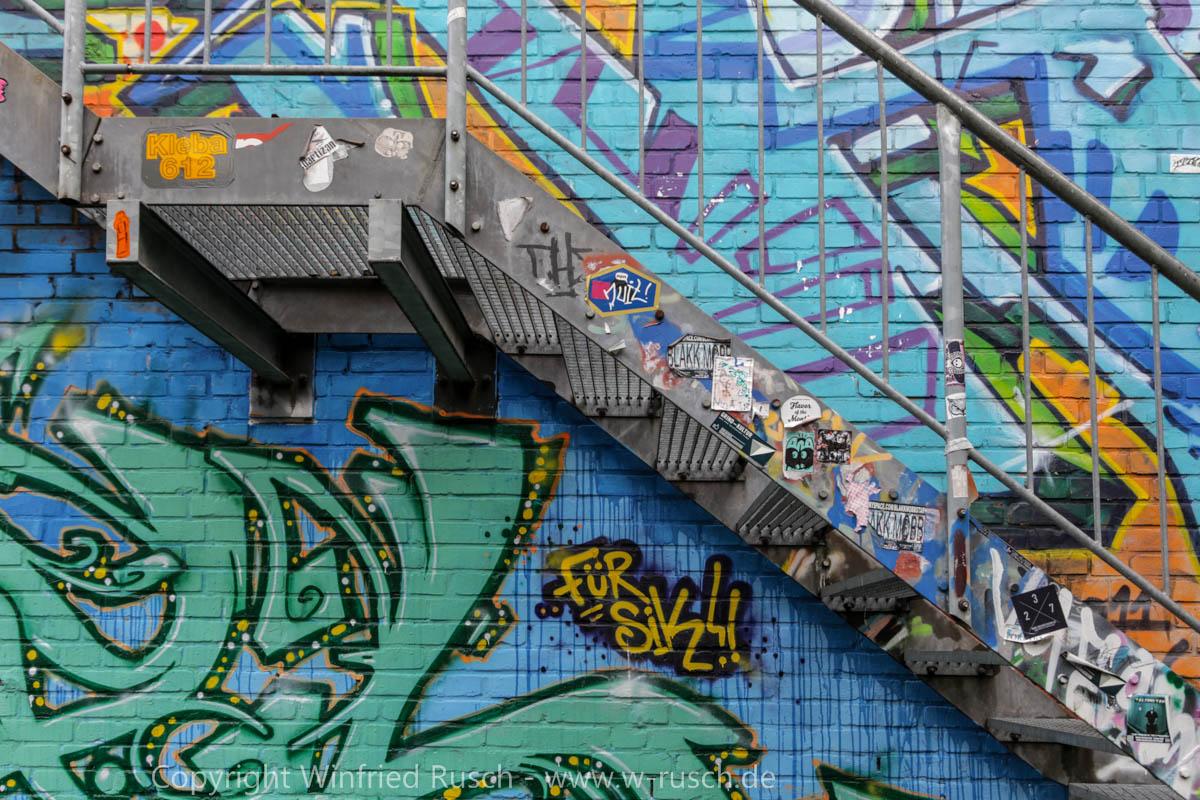 bunte Graffiti in Münster, Germany