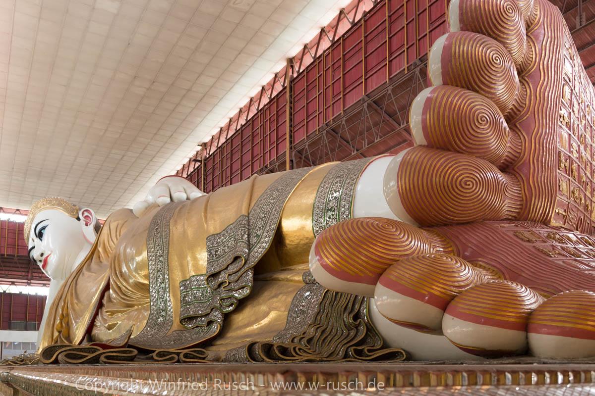 Chaukhtatgyi Buddha-Tempel, Myanmar