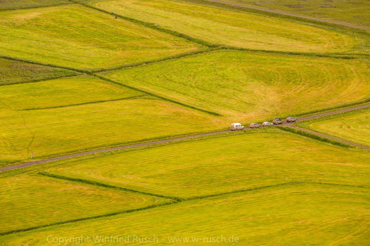 einsame Felder im Norden von Island, Iceland