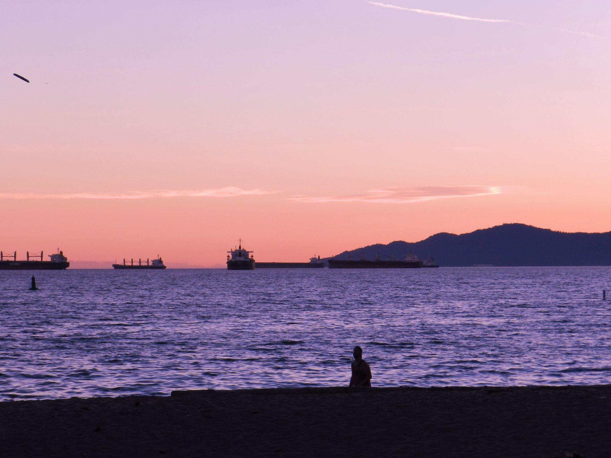 Ocean view at English Bay, Vancouver, Canada