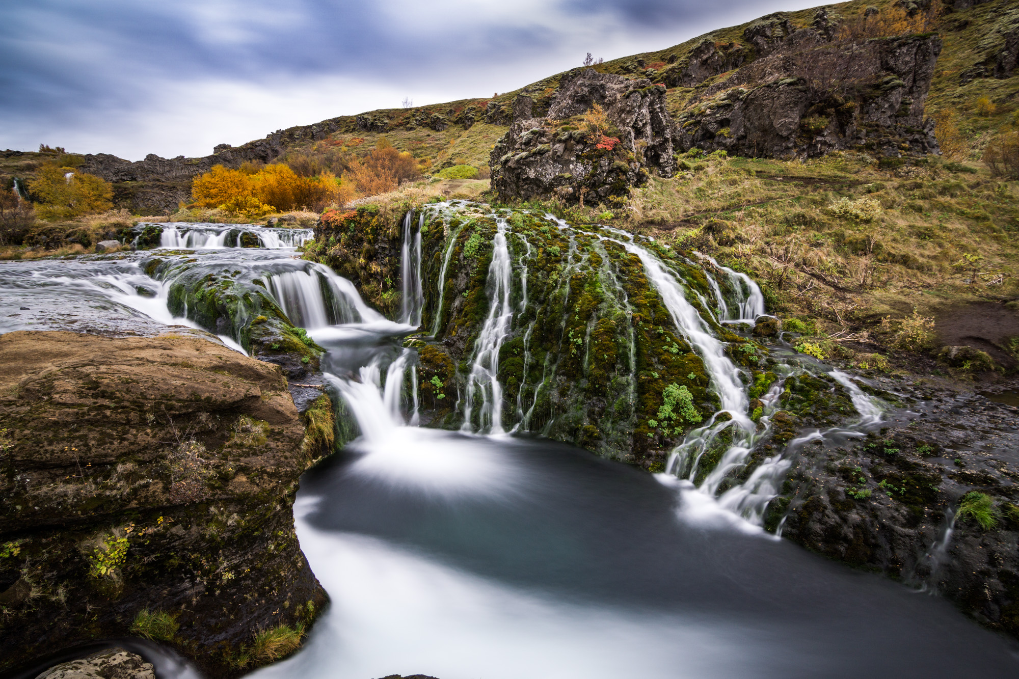 Gjain valley and waterfalls, Iceland