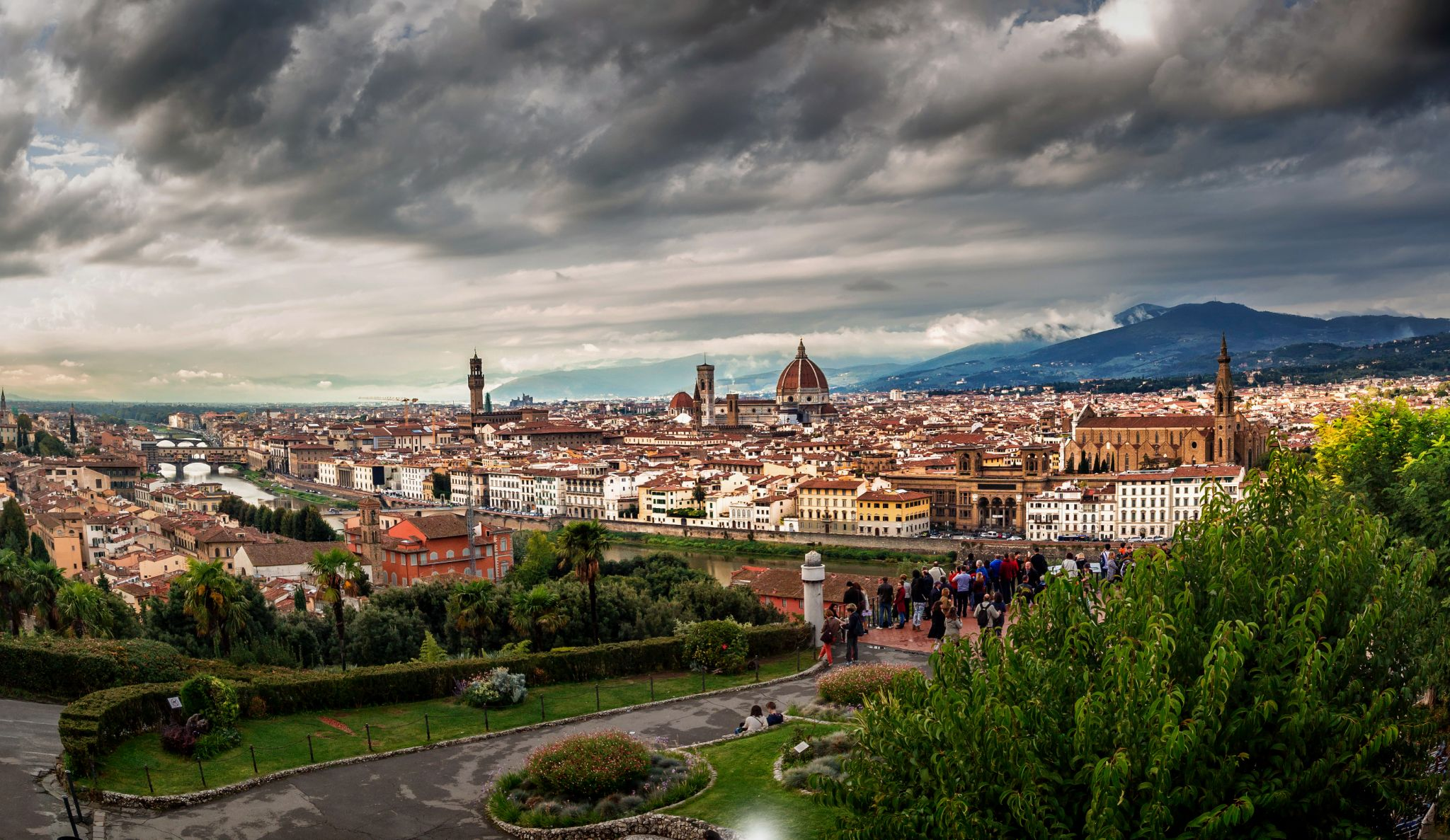 Panoramic view of Florence from Piazzale Michelangelo, Italy