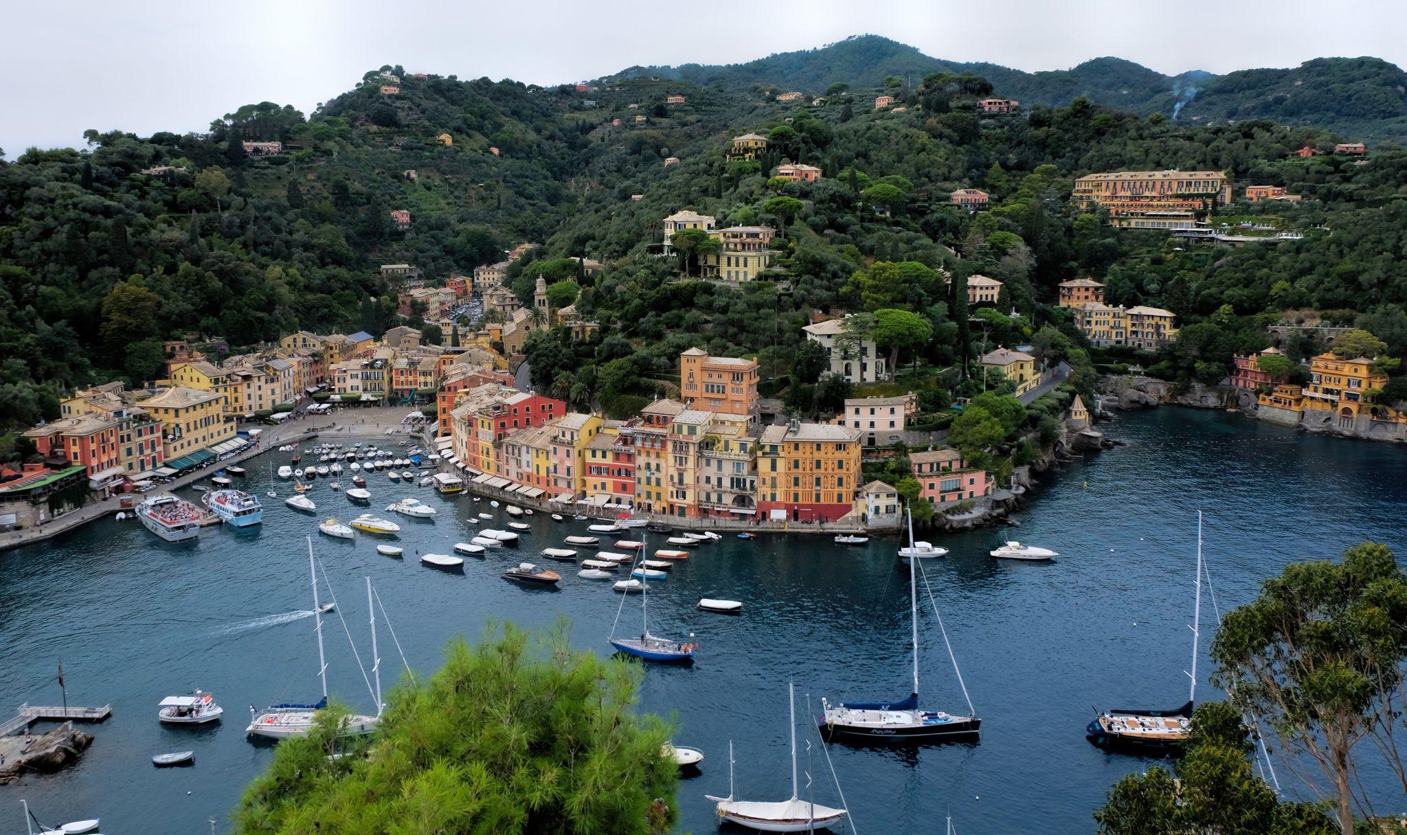 Portofino from Castello Brown, Italy