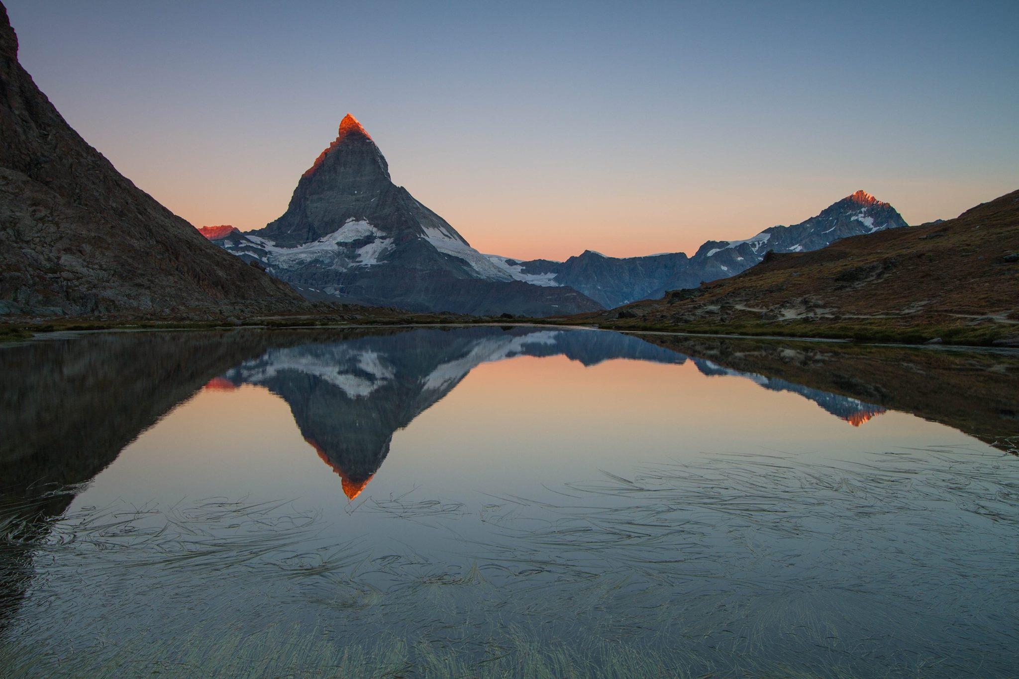 Riffelsee with Matterhorn reflection, Switzerland