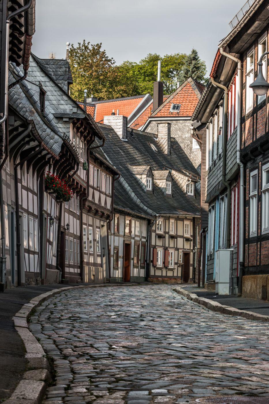 The streets of Goslar, Germany