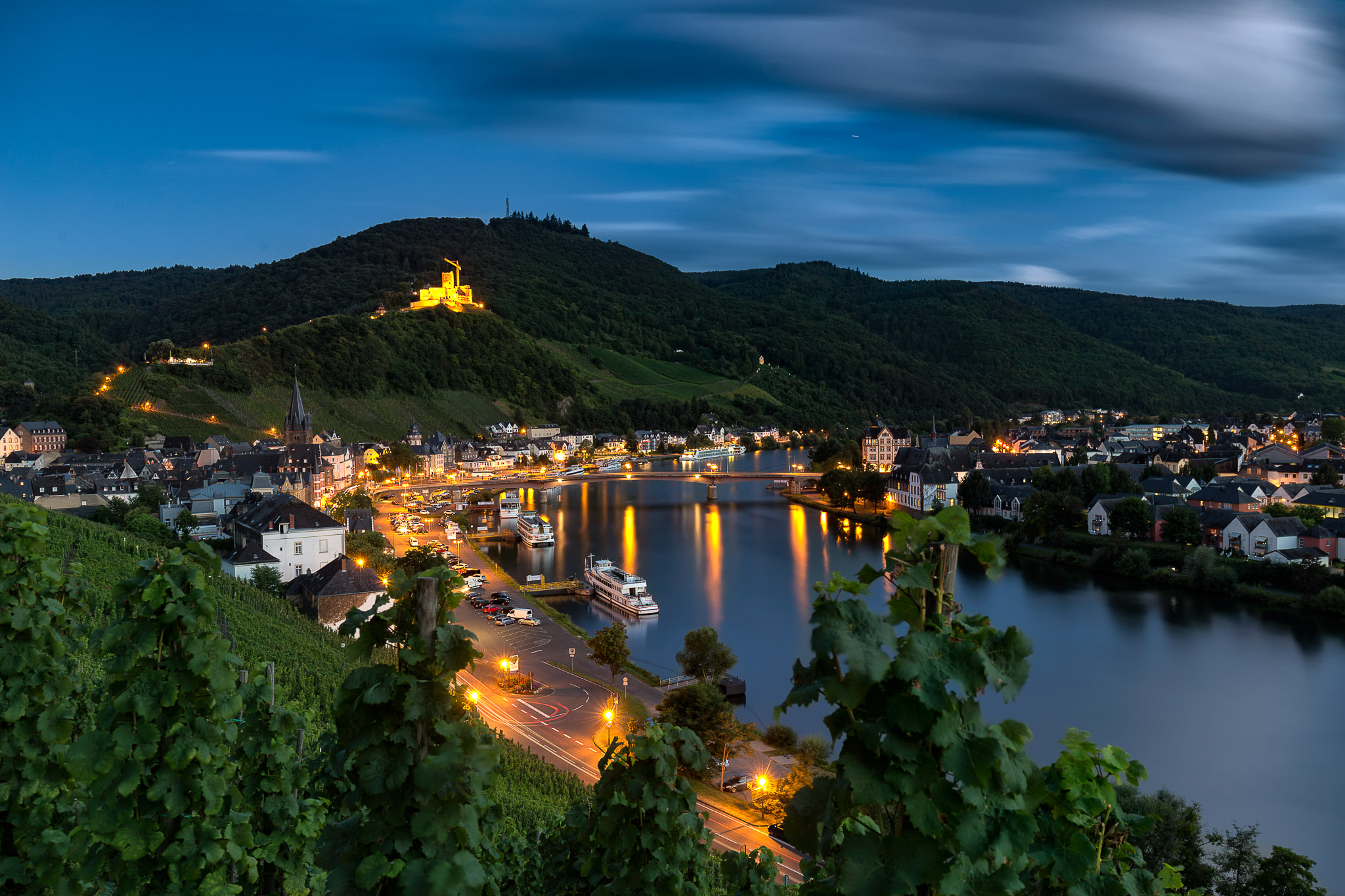 View along Moselle, Germany