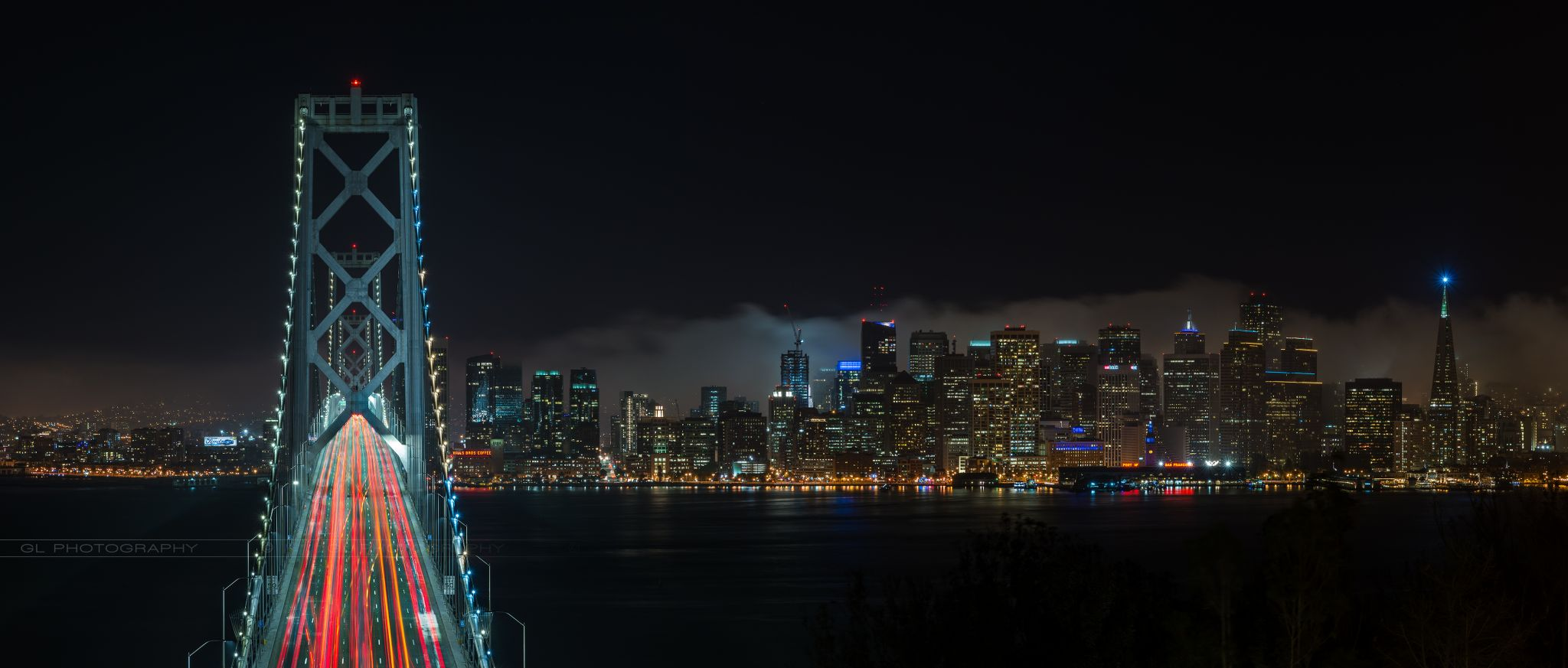 Bay Bridge from Treasure Island, USA