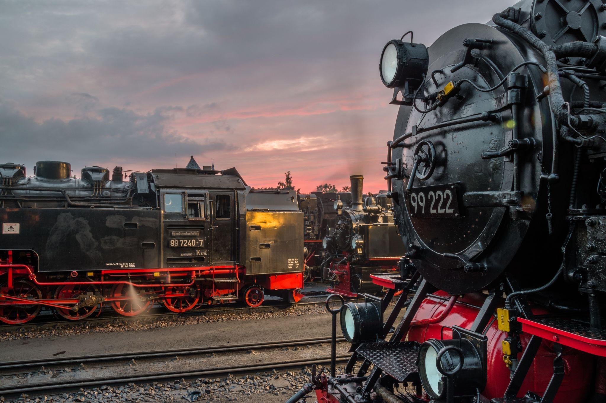 Depot Of The Harzer Schmalspurbahnen Wernigerode Harz Germany