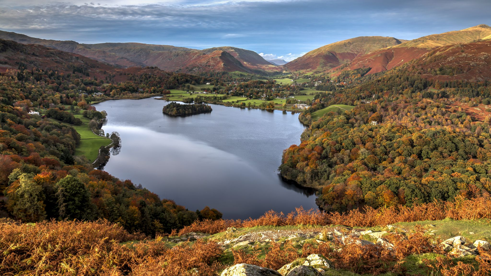 Grassmere view from Loughrigg Terrace, United Kingdom