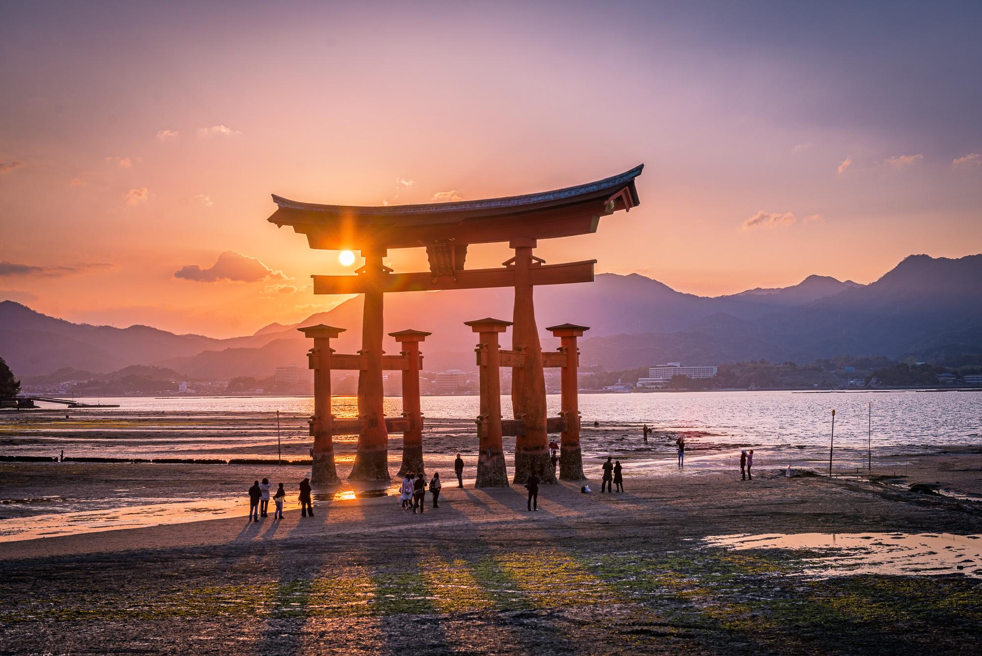 Itsukushima Shrine Torii, Miyajima, Japan, Japan