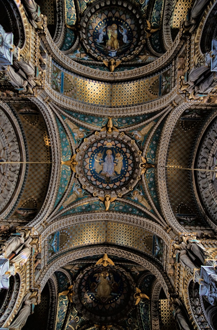 La Basilique Notre Dame de Fourvière, Lyon, France