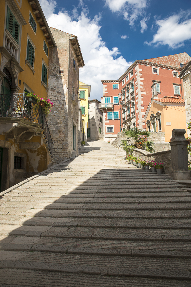 Stairs in the old town, Croatia