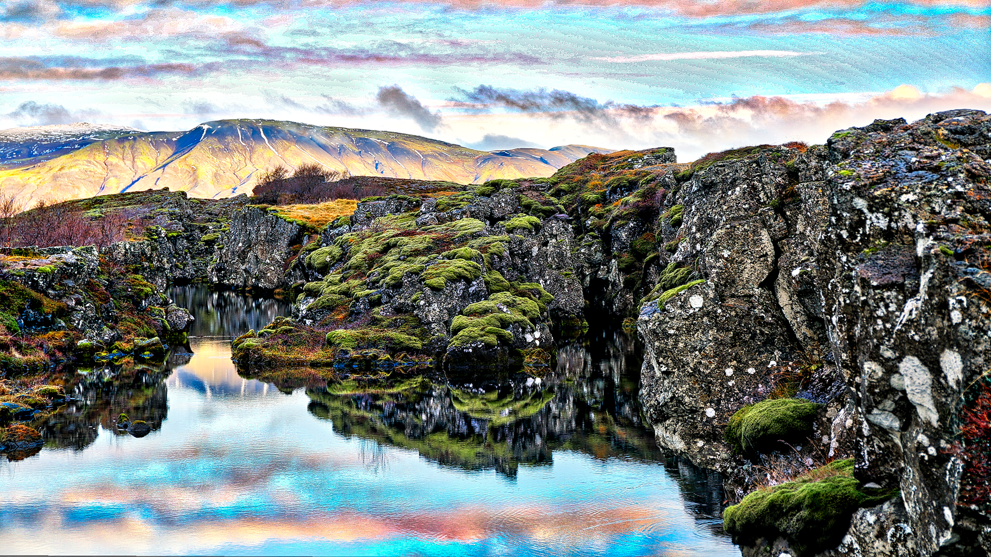 Tingvellir Lagoon, Iceland