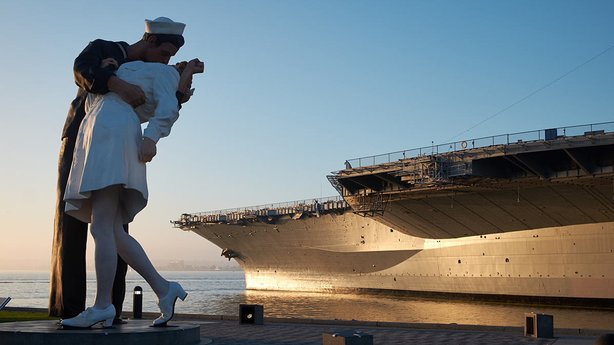 Unconditional Surrender Statue, USS Midway, USA