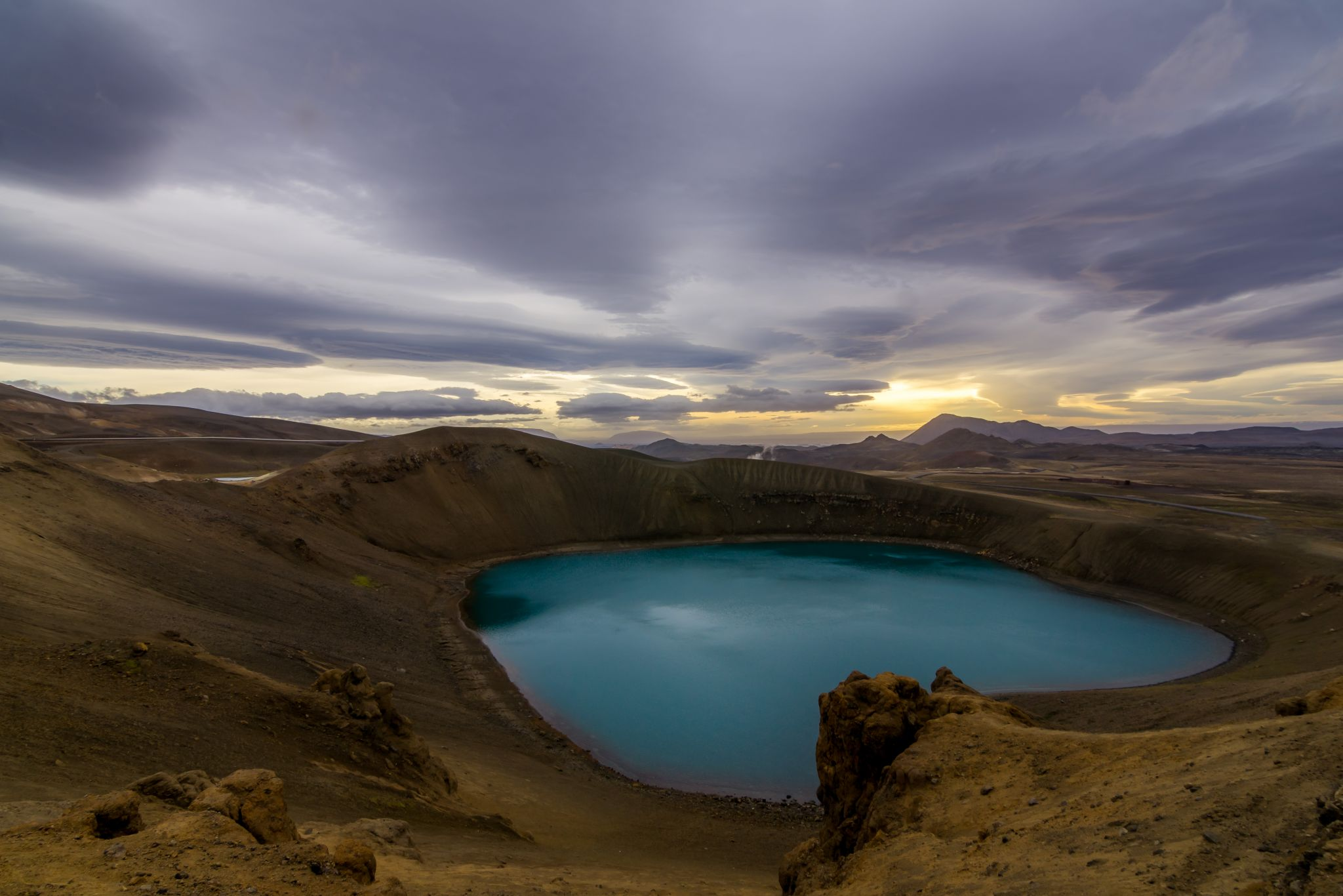 Viti explosion crater in Krafla, Iceland, Iceland