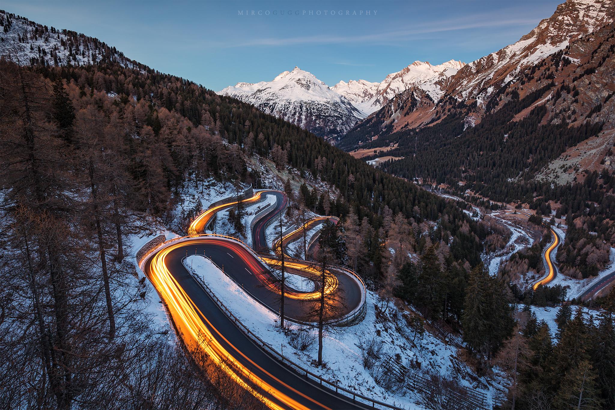Maloja Pass Road, Switzerland