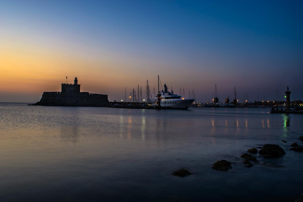 Rhodes city harbor, Greece