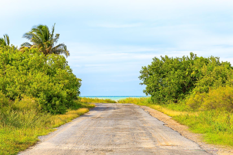 Road to the beach, Cuba