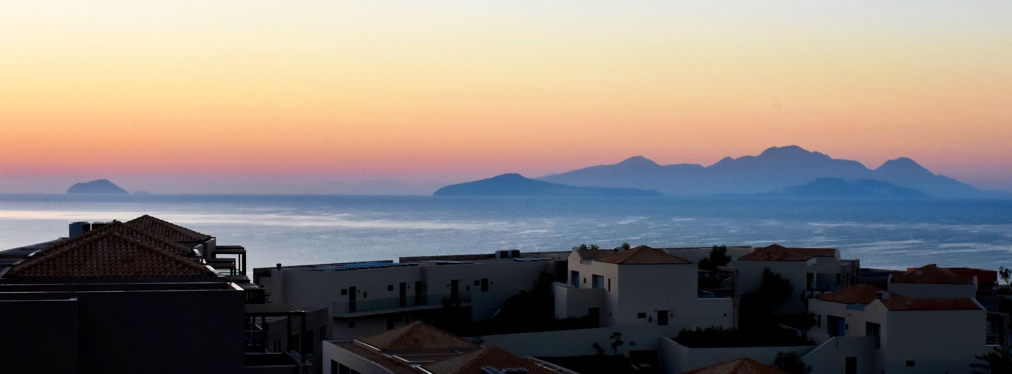 Sunrise on the mediterranean, Greece
