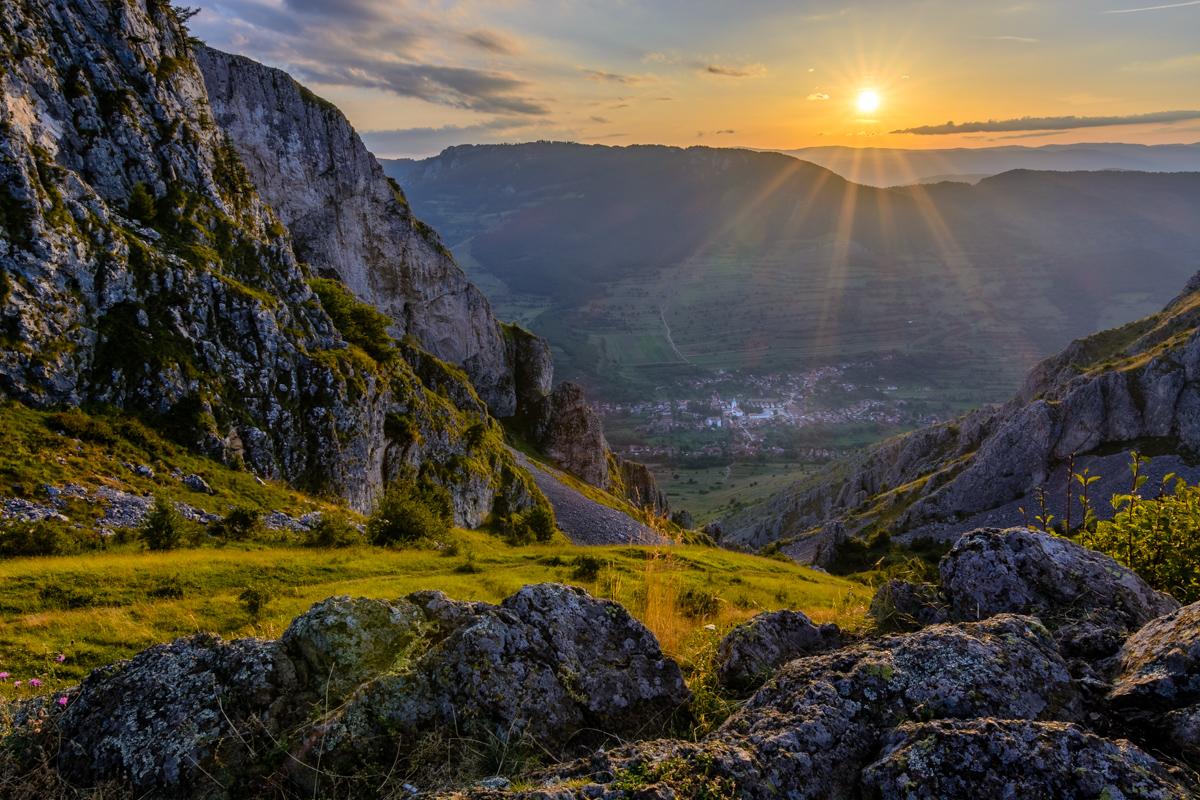 Sunset on the mountain, Romania