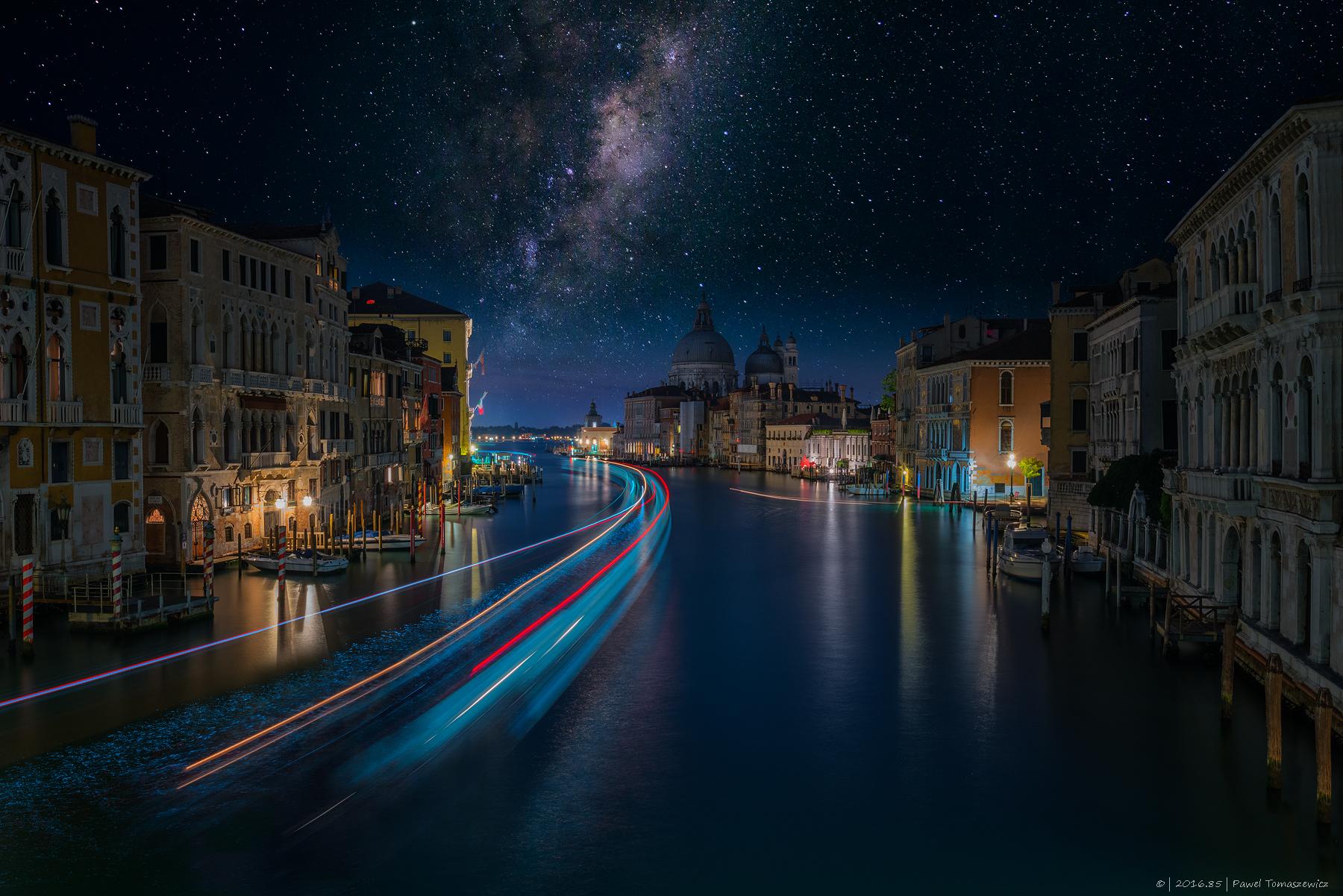 Venice - Accademia Bridge - Basilica di Santa Maria, Italy