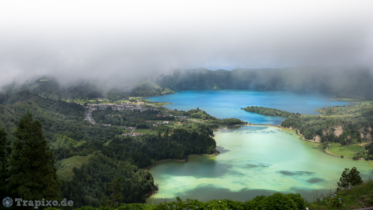 View from the Ghost Hotel over Sete Cidades, Portugal