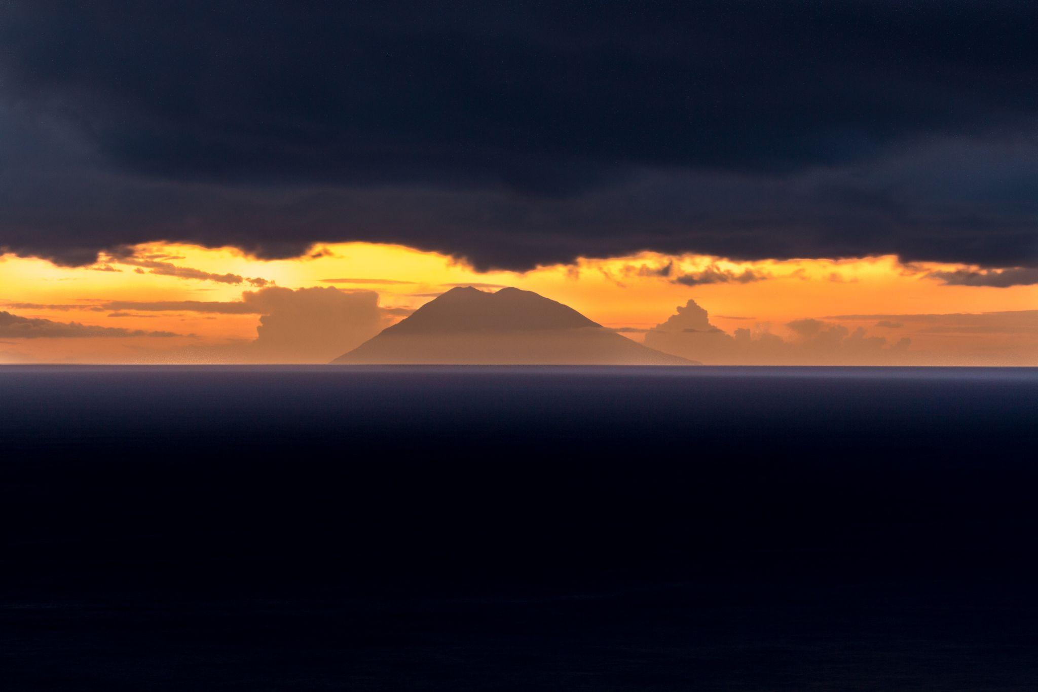 View on volcano Stromboli, Italy