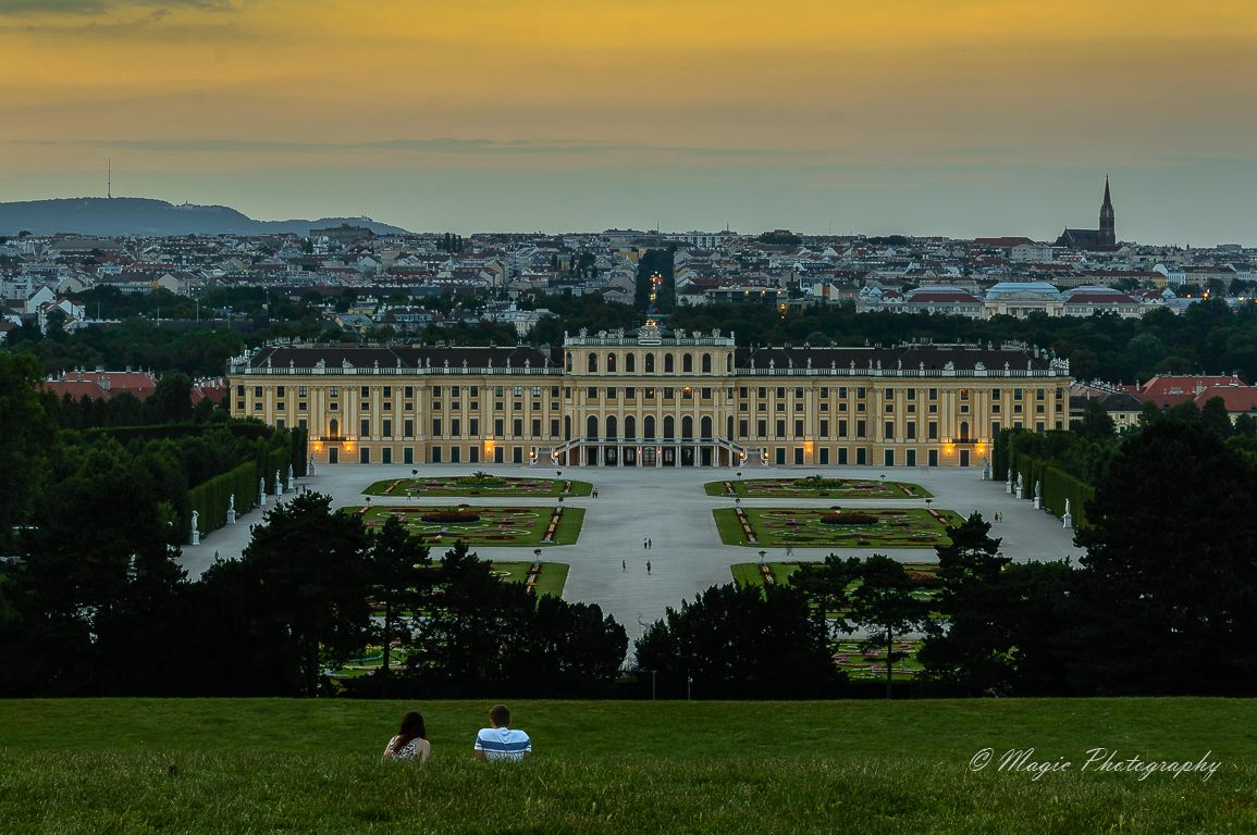 Relaxing at Schönbrunn, Austria
